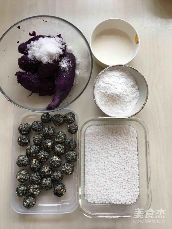 西米紫薯球的步骤