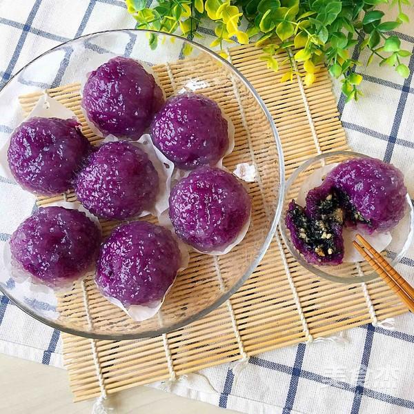 西米紫薯球成品图
