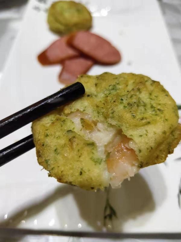 豆妈带你五分钟搞定营养早餐鱼香虾饼怎么吃