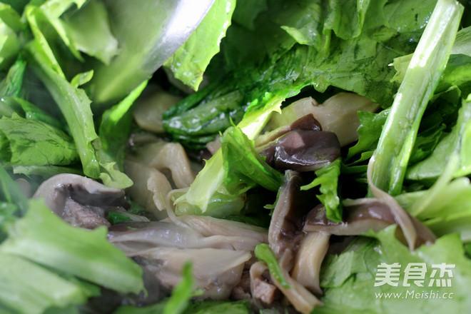 平菇油麦菜怎么炒