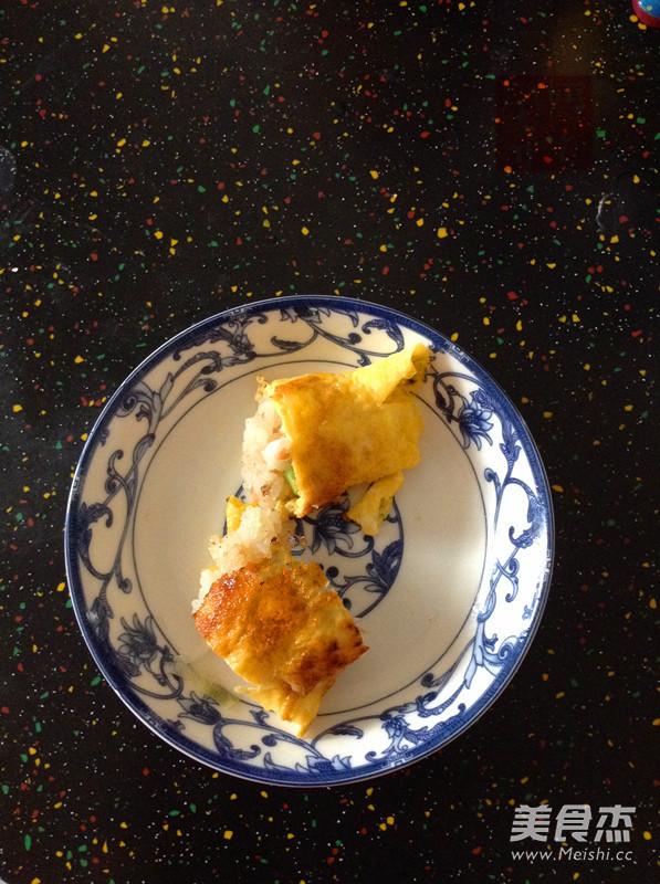 葱香火腿蛋包饭怎么炒