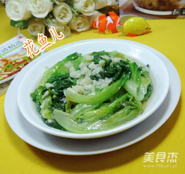 蒜香生菜成品图