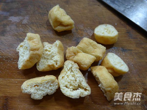 油豆腐炒花菜的做法图解