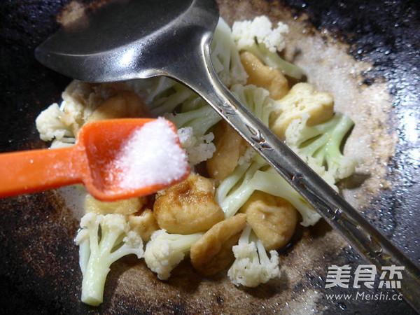 油豆腐炒花菜怎么炖