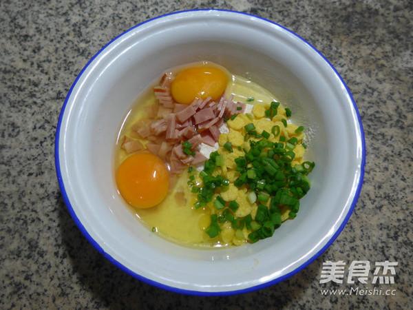 培根玉米片鸡蛋饼的简单做法