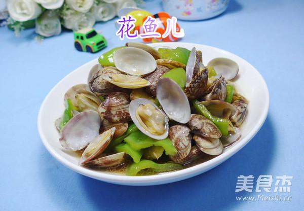 尖椒炒花蛤成品图
