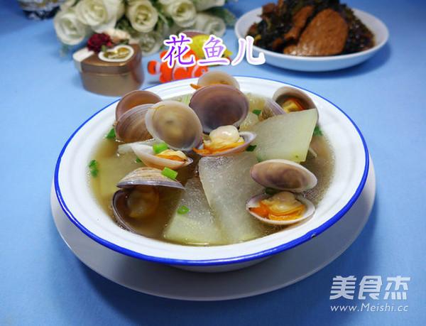 圆蛤冬瓜汤成品图