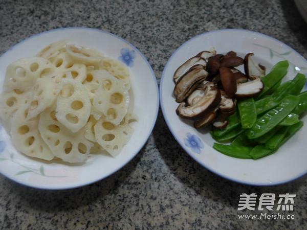 香菇荷兰豆炒莲藕的做法大全