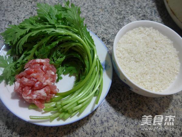 猪肉末茼蒿大米粥的做法大全