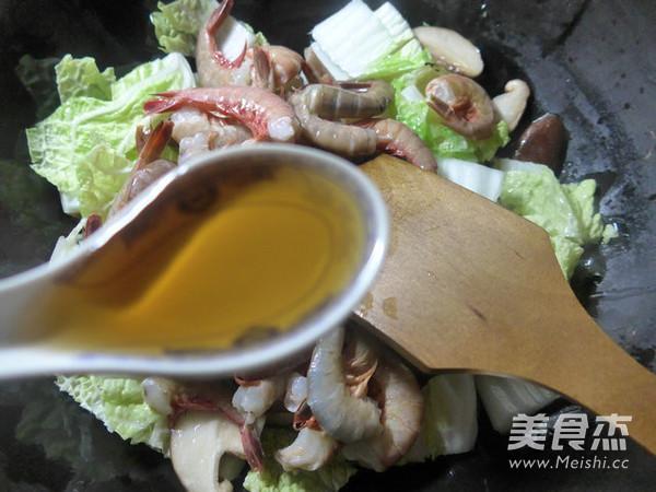 香菇白菜炒海虾的家常做法