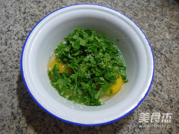 芹菜叶鸡蛋饼的家常做法