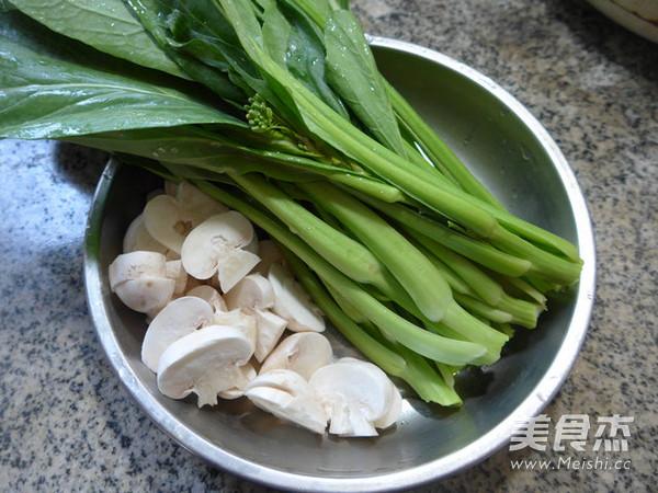 蘑菇炒油菜苔的做法大全