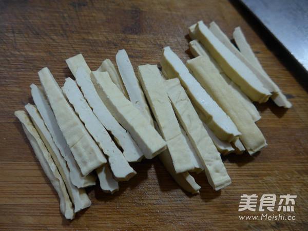 豆腐干炒油菜苔的简单做法