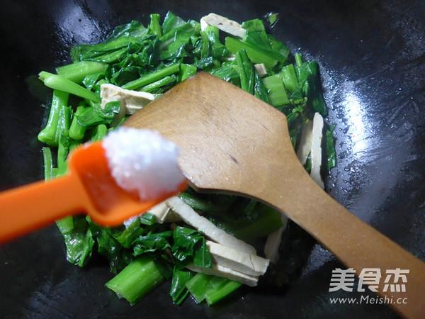 豆腐干炒油菜苔怎么炖