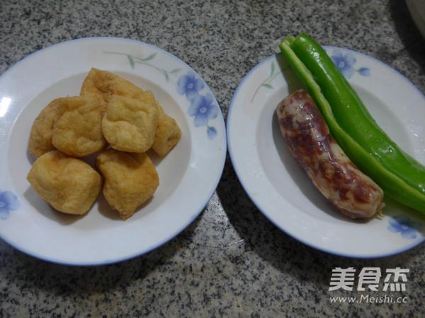 尖椒麻辣香肠炒油豆腐的做法大全