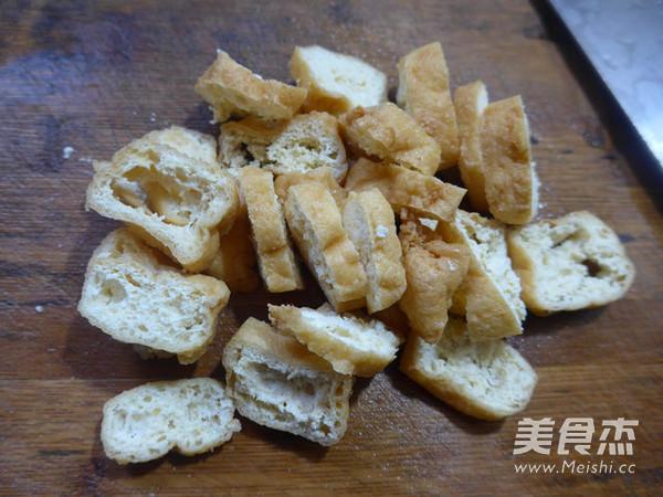 尖椒麻辣香肠炒油豆腐的做法图解