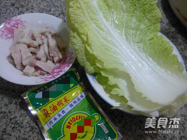 榨菜丝五花肉炒白菜的做法大全