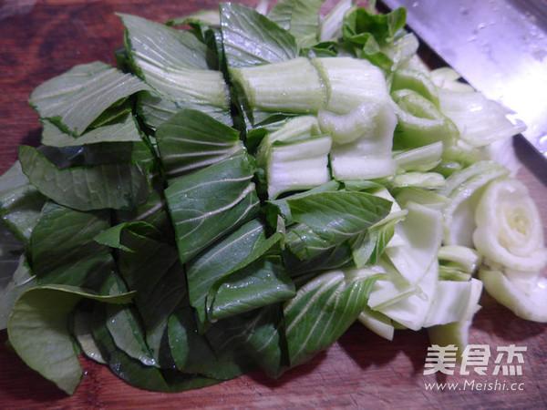 盐炒肉炒青菜的做法图解