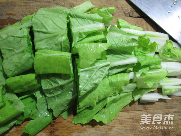 小白菜炒花蛤的家常做法