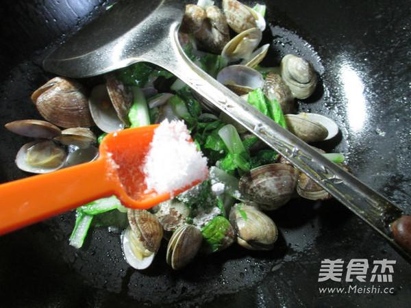 小白菜炒花蛤怎么煮