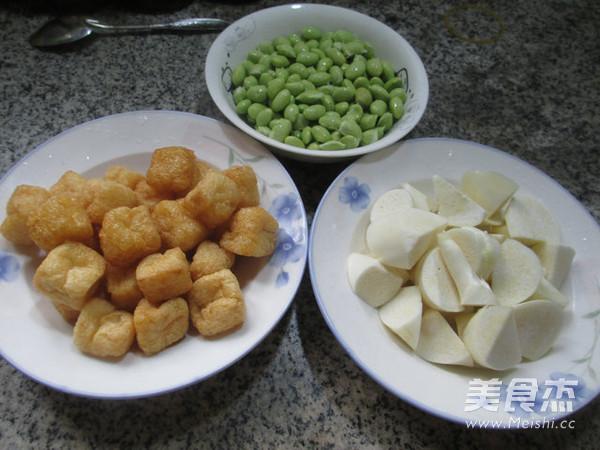 毛豆茭白煮小油豆腐的做法大全