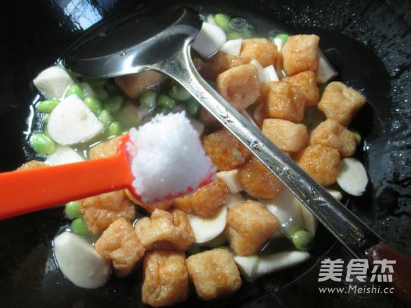 毛豆茭白煮小油豆腐怎么做