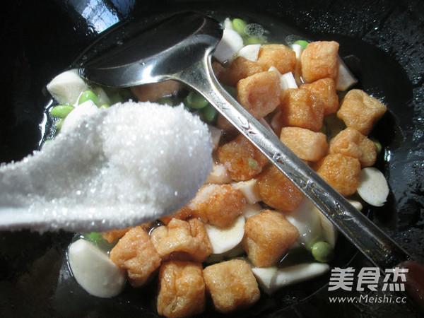毛豆茭白煮小油豆腐怎么炒