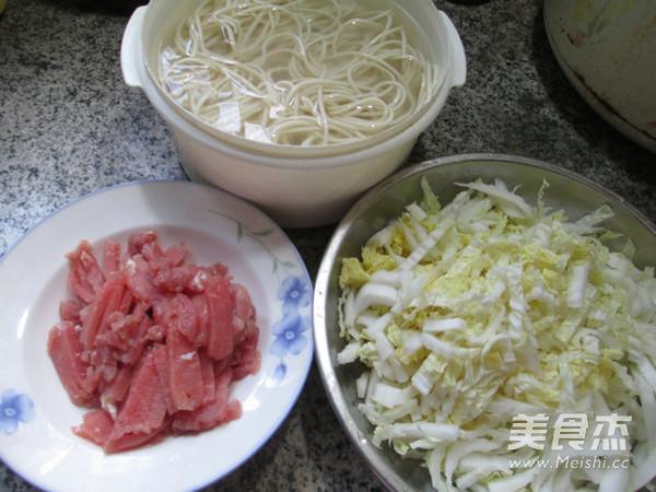 里脊肉白菜炒面的做法大全