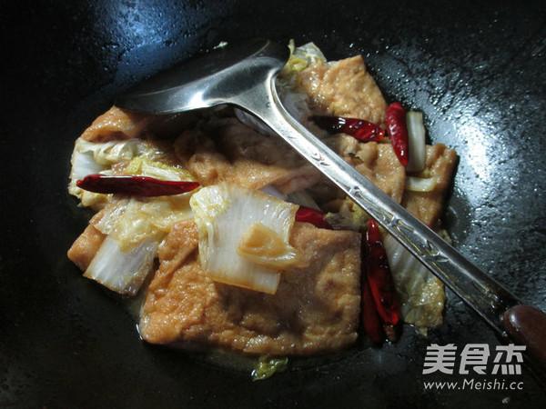 白菜煮豆腐干怎么炖