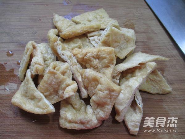 茭白烧豆腐干的做法图解