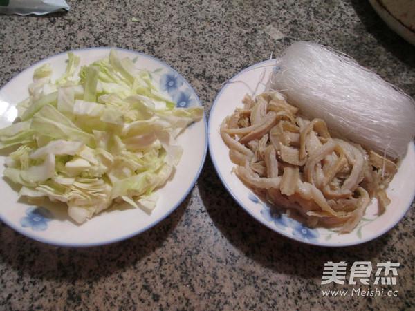 圆白菜牛肚煮粉丝的做法大全