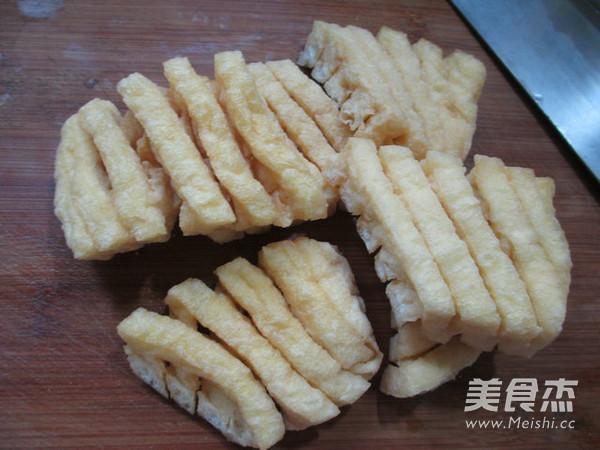 兰花豆腐干烧大排的做法图解