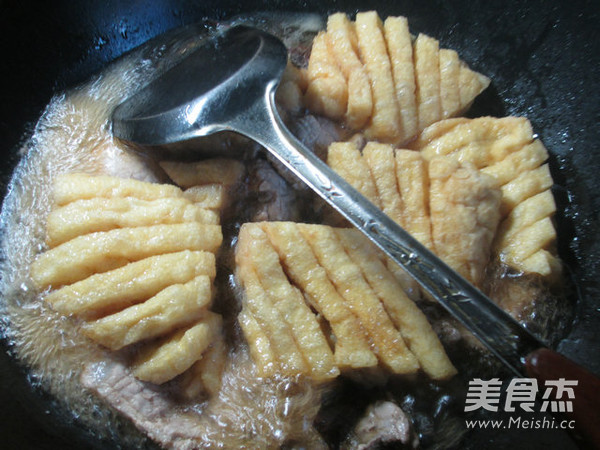 兰花豆腐干烧大排怎样煸