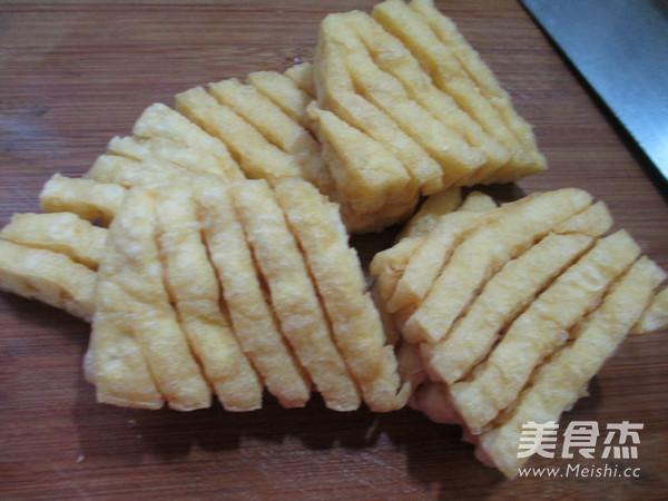 荷叶蛋烧兰花豆腐干的做法图解