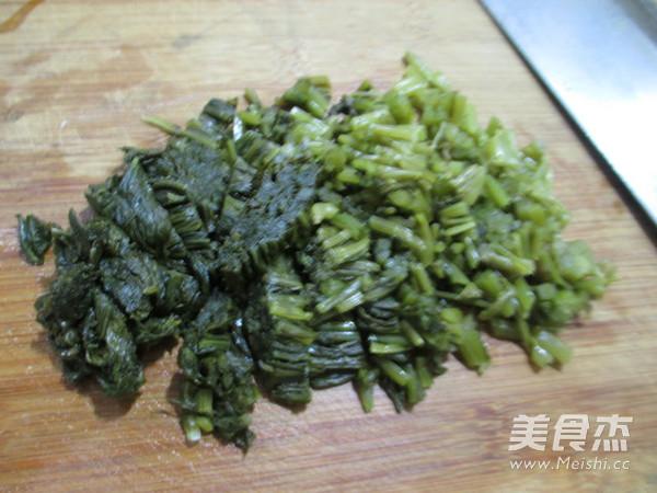 雪菜五花肉炒白玉菇的做法图解