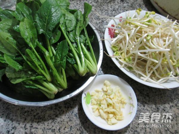 菠菜炒黄豆芽的做法大全