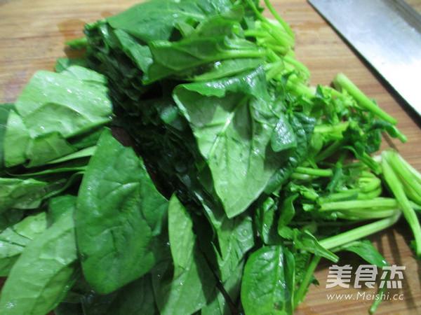 菠菜炒黄豆芽的做法图解