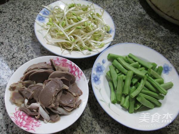 黄豆芽鹅胗炒梅豆的做法大全
