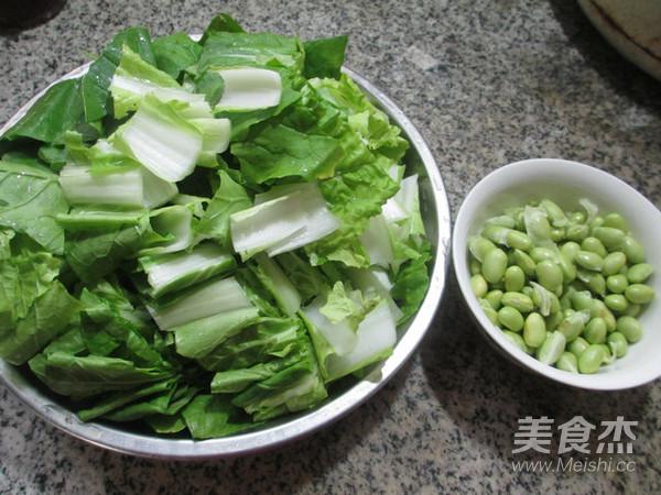 毛豆炒小白菜的做法大全