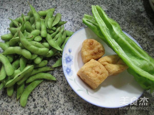 尖椒油豆腐炒毛豆的做法大全