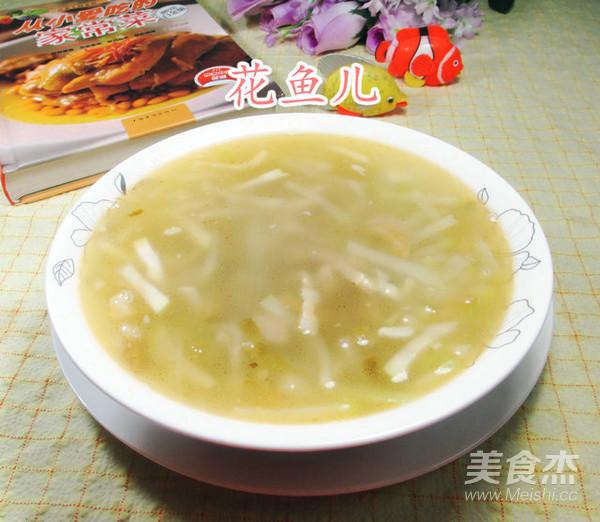 榨菜丝肉丝蒲瓜汤成品图