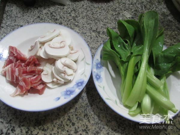 咸肉鸡毛菜蘑菇汤的做法大全