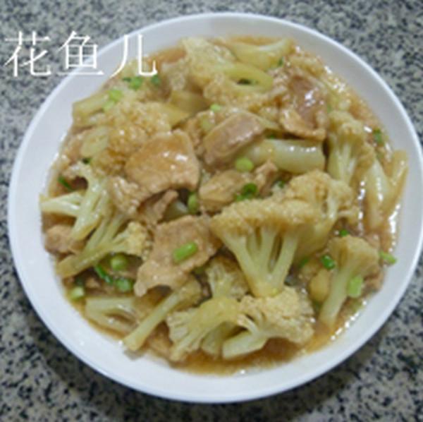 五花肉炒花菜怎样煮