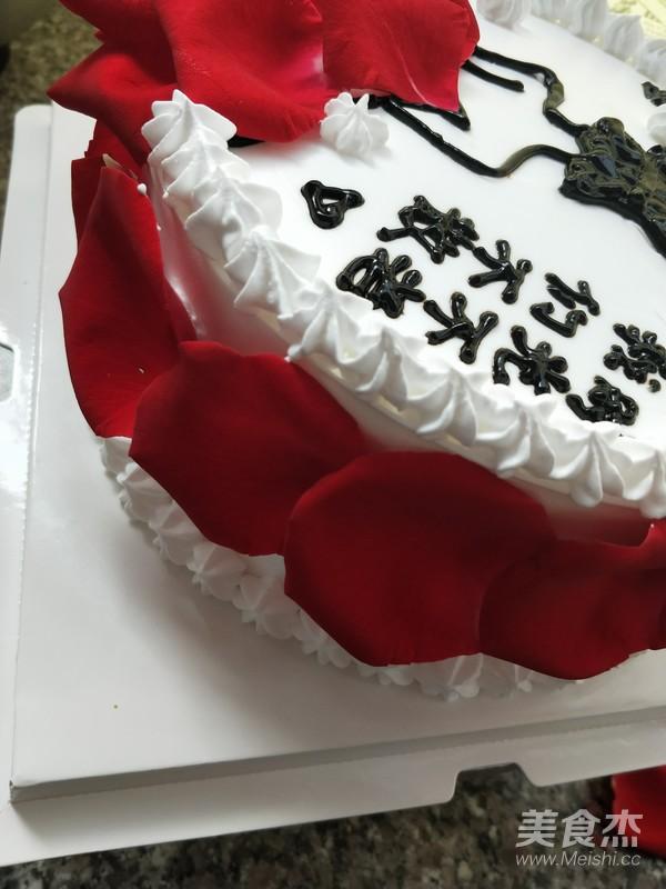 玫瑰花蛋糕的步骤