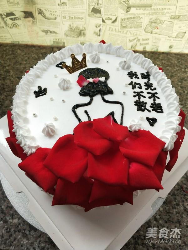 玫瑰花蛋糕成品图