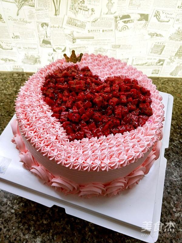 水果爱心蛋糕怎样煸