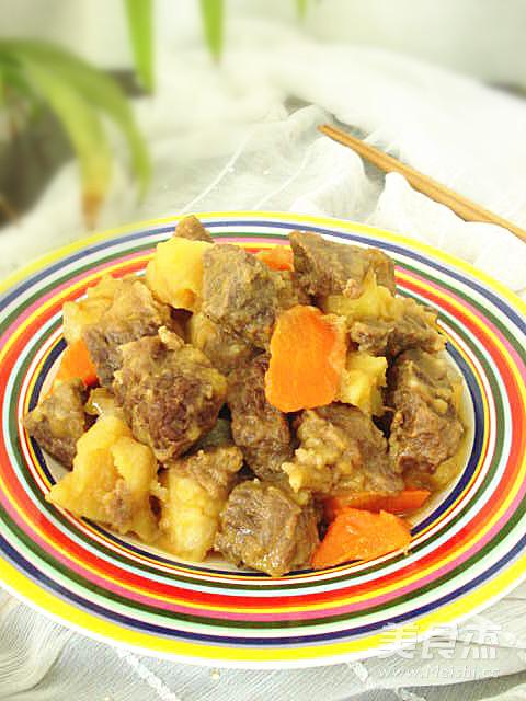 土豆烧牛肉的制作
