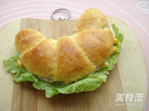 玉米沙拉牛角包的简单做法