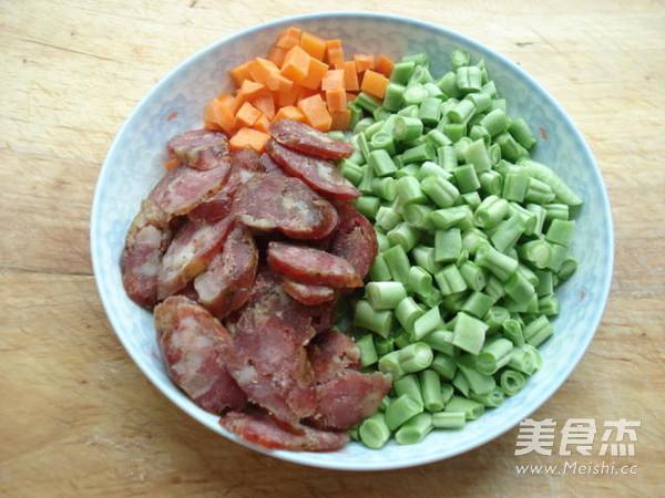 腊肠豆角焖饭的做法图解