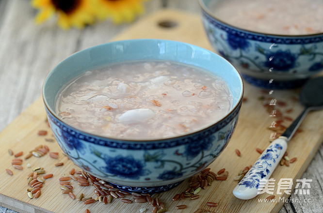 红糙米百合粥怎么做